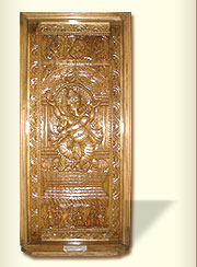 Wooden Door (Carved Ganesha)