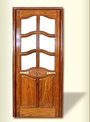 Fancy Glass And Wooden Door